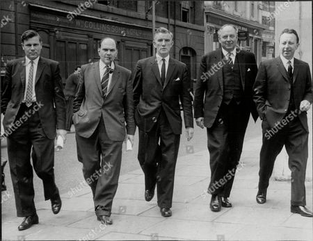 Stock Photo of Trial Of M16 Spy Frank Bassard - The Spy Catchers Det. Sgt Jim Lynch Ins. Ralph Jarvis Chief. Ins. Matthew Rodgers Det. Supt. Jim Wise And Ins Donald Ginn.