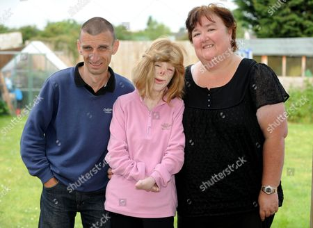 Terri Calvesbert with her father Paul and stepmother Nicky