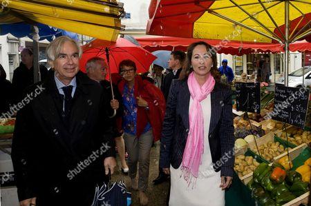 Stock Image of Maxime Bono, mayor of La Rochelle, and Segolene Royal