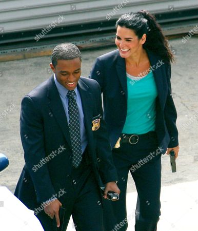 Stock Photo of Lee Thompson Young and Angie Harmon