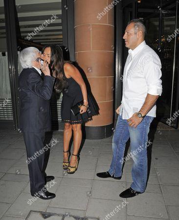 Bernie Ecclestone, Tamara Ecclestone and Omar Khyami