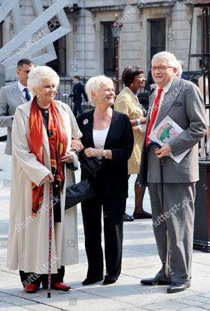Joan Plowright, Judi Dench and David Hockney