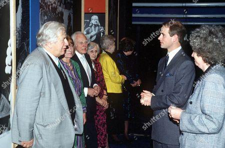 PETER USTINOV, PRINCE EDWARD AND MARIUS GORING - 1990