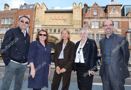 Danny Boyle, Rachel Whiteread, Iwona Blazwick, director of the Whitechapel Gallery, Ruth Mackenzie, director Cultural Olympiad and Stephen Deucher, director of the Art Fund