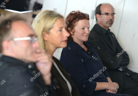 Danny Boyle, Iwona Blazwick, director of the Whitechapel Gallery, Rachel Whiteread and Stephen Deucher, director of the Art Fund