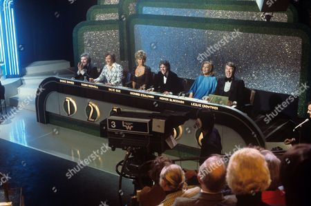 Dickie Davies, Robin Nedwell, Julie Ege, Richard O'Sullivan, Honor Blackman and Leslie Crowther
