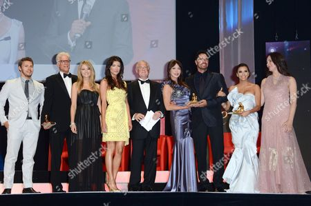 Eva Longoria, Stan McMurtry, Scott Clifton, Kim Matula, Don Diamont and Hunter Tylo