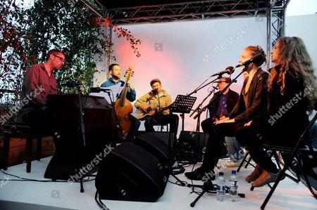 Editorial image of An Evening With Damon Albarn and Rufus Norris celebrating 'Dr Dee' with the ENO on Selfridges Roof Terrace, London, Britain - 14 Jun 2012
