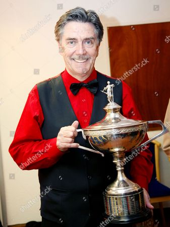 Cliff Thorburn with the World Snooker Trophy