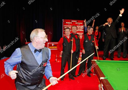 Editorial photo of Snooker Legends Cup 2012 at Bedworth Civic Hall, Britain - May 2012