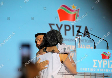 Editorial image of Syriza left-wing party pre-election rally in Omonoia Square, Athens, Greece - 14 Jun 2012