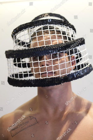 Model wearing one of David Shilling's hat designs