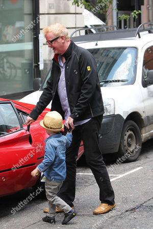 Chris Evans and son Noah Evans