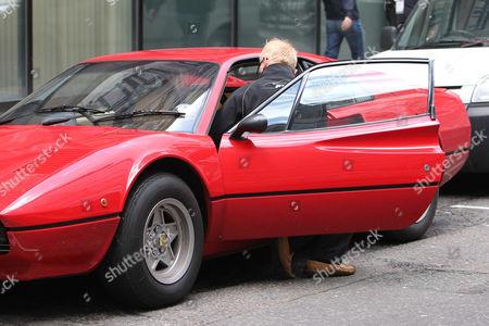 Chris Evans puts son Noah Evans into his Ferrari