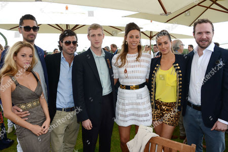 Hugo Taylor, girlfriend Natalie Joel  and Saskia Boxford with guests