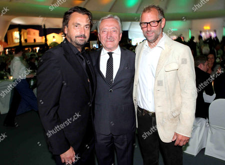 Henri Leconte, Gerhard Weber and Thomas Muster