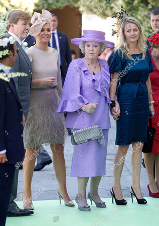 Crown Prince Willem-Alexander, Crown Princess Maxima, Queen Beatrix and Princess Mabel