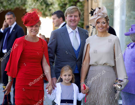 Princess Laurentien, daughter Princess Leonor, Crown Prince Willem-Alexander and Crown Princess Maxima