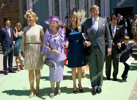 Crown Princess Maxima, Queen Beatrix, Princess Mabel and Crown Prince Willem-Alexander
