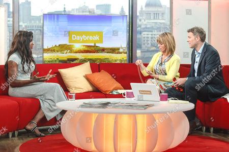 Tasha Danvers with Presenters Kate Garraway and Dan Lobb