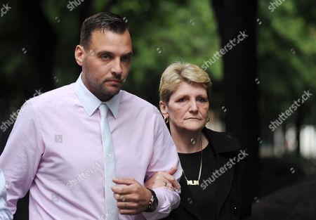 Ian Tomlinson's stepson Paul King and widow Julia Tomlinson