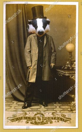 A Charlotte Cory 'Vistorian', titled 'Gentleman Badger'
