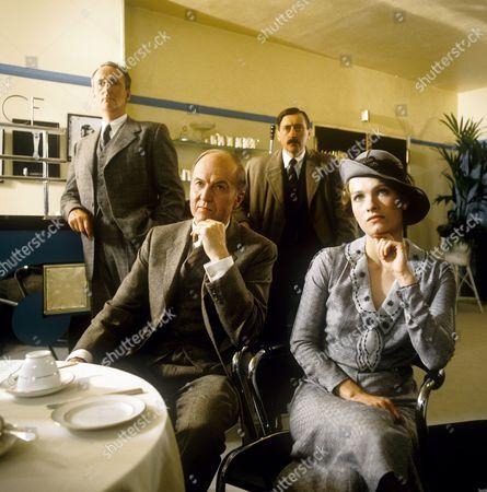 Hugh Fraser, Donald Douglas, Philip Jackson and Nina Marc