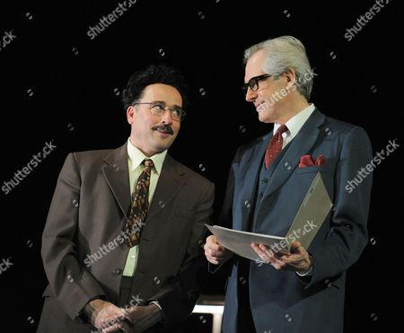 Stock Image of Aidan McArdle as Gunter Guillaume and Patrick Drury as Willy Brandt