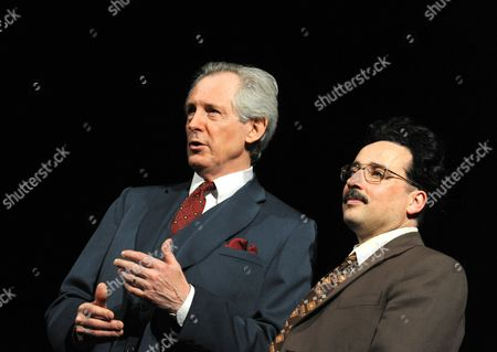 Stock Photo of Patrick Drury as Willy Brandt and Aidan McArdle as Gunter Guillaume