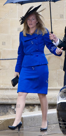 Autumn Wife Of Peter Philips At St George's Chapel Windsor For His Royal Highness The Duke Of Edinburgh's 90th Birthday Service Today.