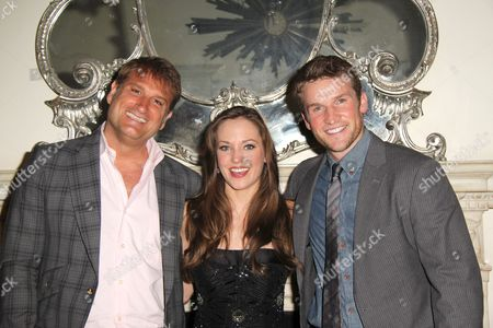 Jeff Calhoun, Laura Osnes and Claybourne Elder
