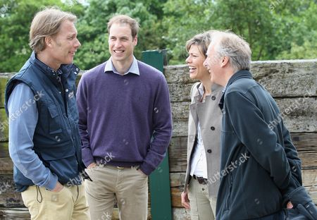 Damian Aspinall, Prince William, Kate Silverton and Charlie Mayhew share a joke