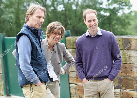 Damian Aspinall, Kate Silverton and Prince William share a joke