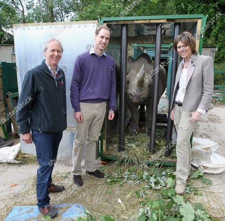 Charlie Mayhew of Tusk Trust, Prince William, 5 year old black John Edwards called Zawadi and Kate Silverton