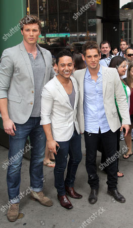 Derek Theler, Tahj Mowry and Jean-Luc Bilodeau from the show 'Baby Daddy'