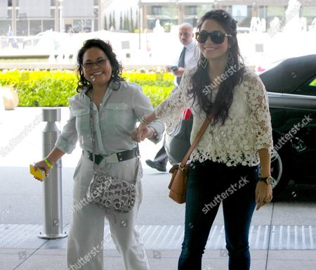 Editorial image of Vanessa Hudgens and mother out and about, Los Angeles, America - 20 Jun 2012