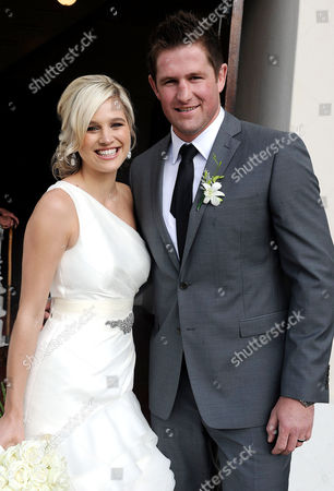 South African model Minki van der Westhuizen and former Lions rugby captain Ernst Joubert at the Andy Murray church
