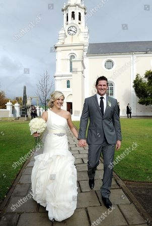 Editorial photo of Wedding of Ernst Joubert and Minki van der Westhuizen, Wellington, South Africa - 08 Jun 2012