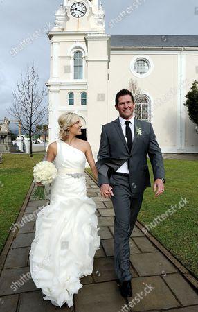 Editorial image of Wedding of Ernst Joubert and Minki van der Westhuizen, Wellington, South Africa - 08 Jun 2012