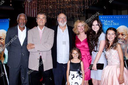 Morgan Freeman, Fred Willard, Rob Reinerl, Nicolette Pierini, Virginia Madsen, Madeline Carroll and Emma Fuhrmann