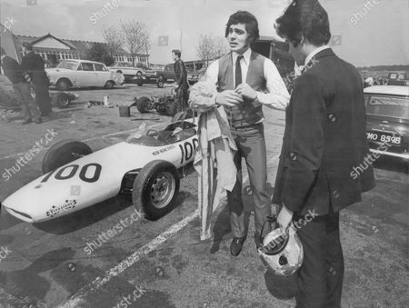 Engelbert Humperdinck Pictured Before He Did Two Laps In A Formula Ford At Brands Hatch Kent
