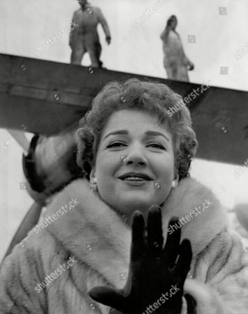 American Actress Anne Baxter Arriving At London Airport - (died12/85)