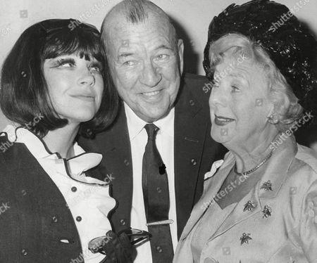 Fenella Fielding Sir Noel Coward (dead March 1973) And Cicely Courtneidge