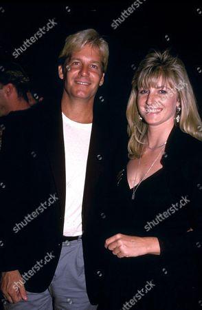 MARK CHRISTIAN AND KAREN STRINGFELLOW AT STRINGFELLOWS NIGHTCLUB NEW YORK AMERICA 1990