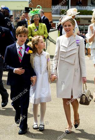 Viscountess Serena Linley, Charles Armstrong-Jones and Margarita Armstrong-Jones