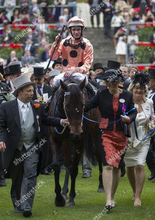 Black Caviar in the winners enclosure with jockey Luke Nolen