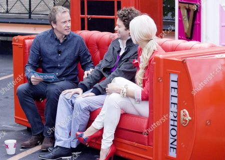 Stock Photo of Tim Lovejoy with Benjamin Shine and Mandii Pope