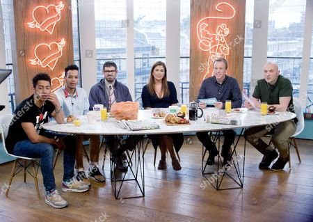 Rizzle Kicks - Jordan Stephens, Harley Alexander-Sule, Dan Renton Skinner as Dan Renton Skinner, Amanda Lamb, Tim Lovejoy and Simon Rimmer.