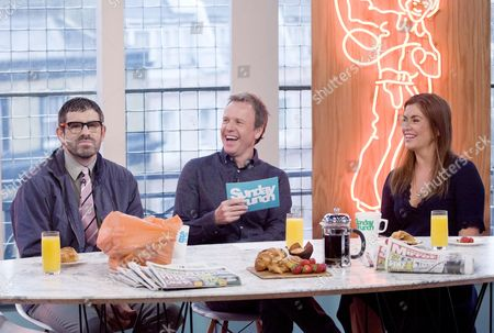 Dan Renton Skinner as Angelos Epithemiou, Tim Lovejoy and Amanda Lamb