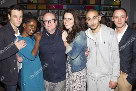 Stock Image of Rupert Evans (Gerald), Lorna Brown (Kieran's Mum), Dominic Savage (Author/Director), Louise Delamere (Amanda), Aymen Hamdouchi (Kieran) and Jason Maza (Jason)